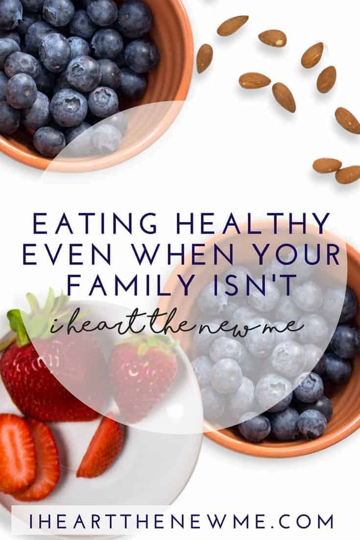 Tips to stay on track even when your family isn't! Stay healthy and lose weight with these great ideas!
