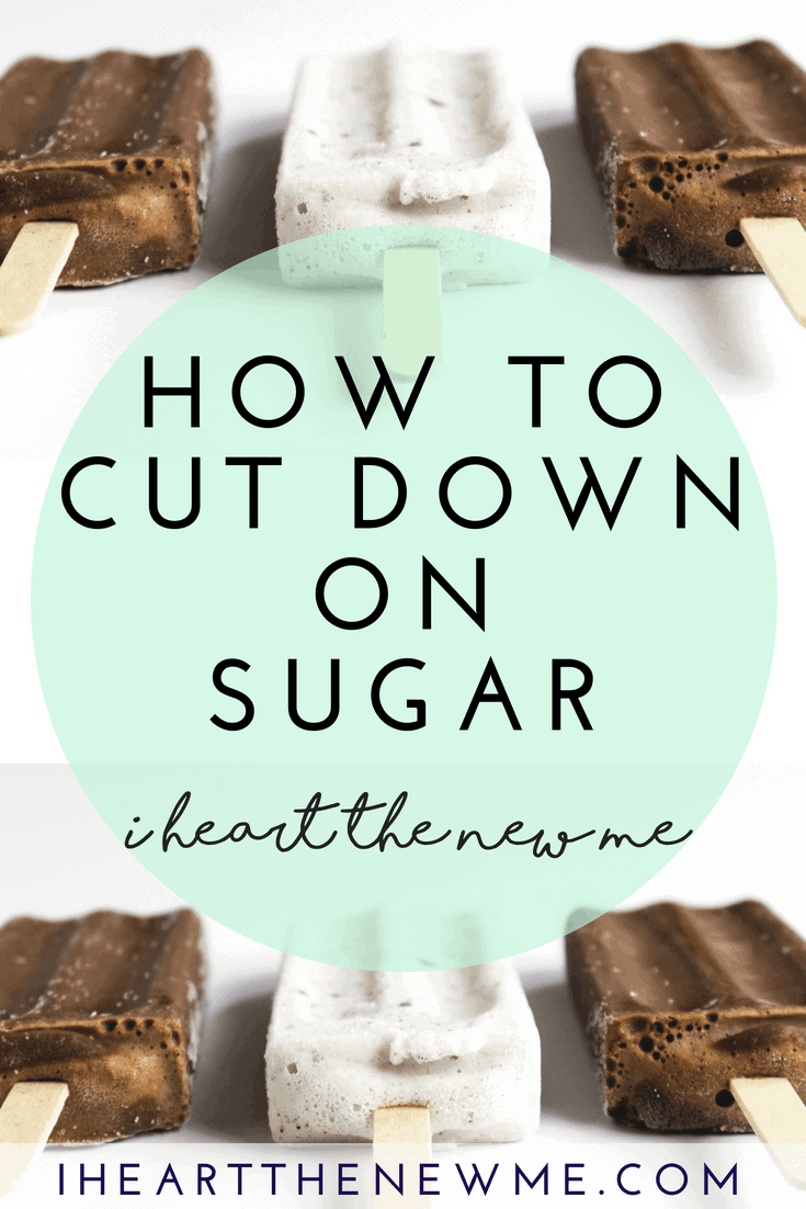 Click to learn 6 easy ways to cut out sugar and help lose weight. Find out how cutting down on sugar can significantly improve your health and lead to weight loss. Sugar is very unhealthy and in order for you to reach your health goals you'll need to reduce and cut the sugar from your diet. Read the article to see how these tips can help you reach your health and weight loss goals. Plus there's a free Guide to Healthy Eating on the Go – be sure to grab it! | I Heart the New Me #weightloss #weightlosstips #weightlossmotivation #healthyweightloss #cutdownonsugar #sugardetox #sugarfree