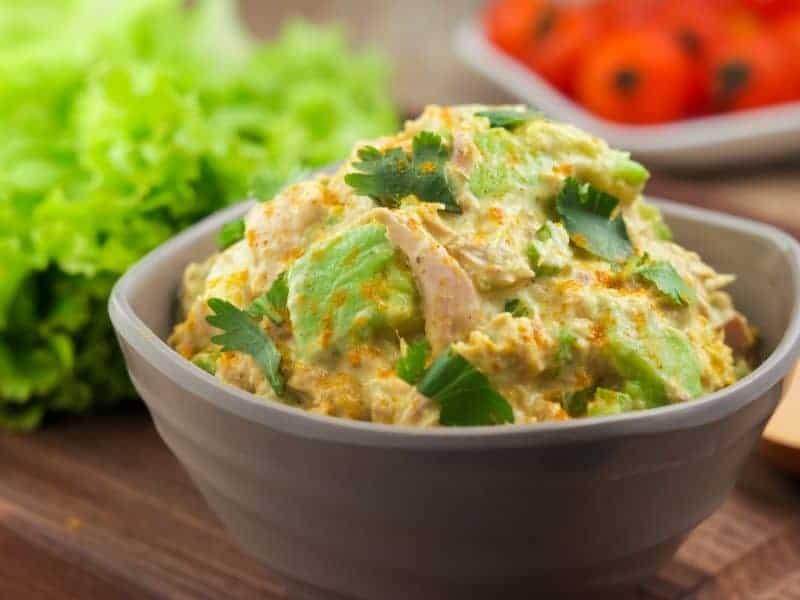 Keto Curry Spiked Tuna and Avocado Salad