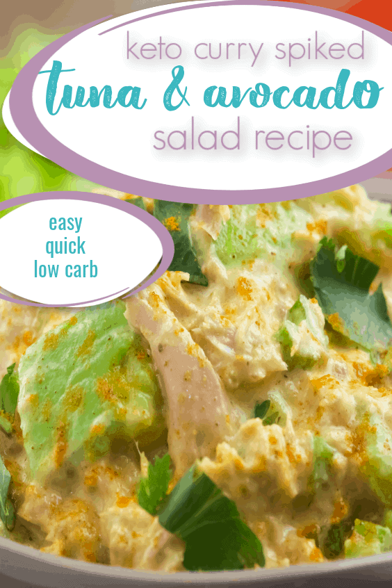 Keto Curry Spiked Tuna and Avocado Salad Recipe
