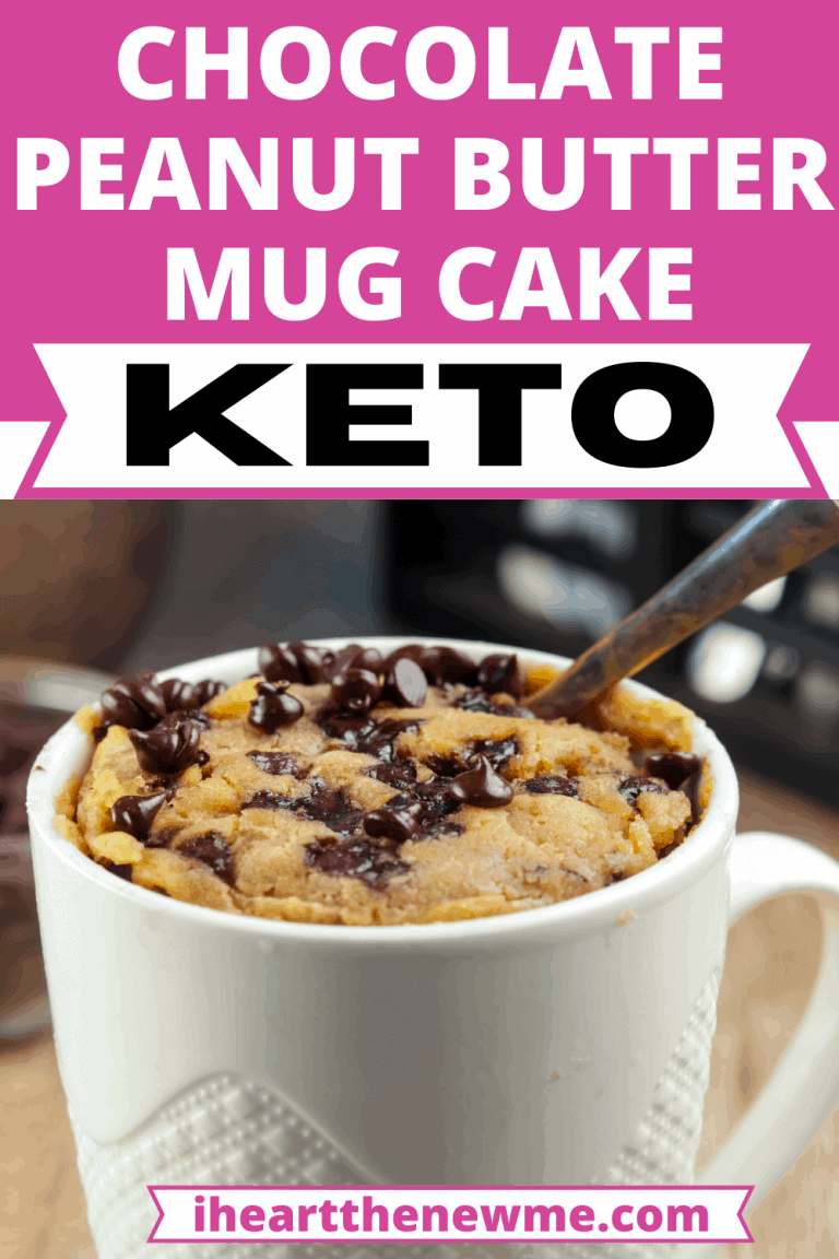 Keto Chocolate Peanut Butter Mug Cake Recipe