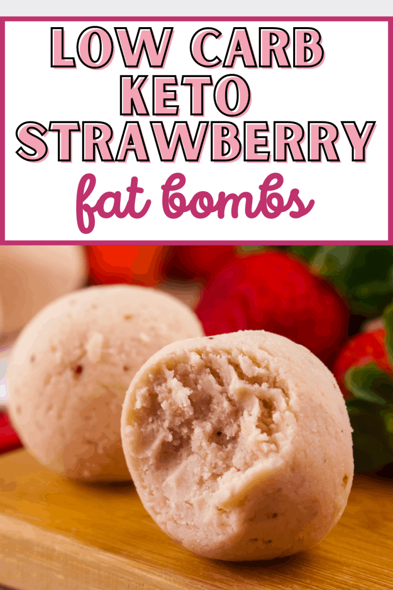 Keto Low Carb Strawberry Fat Bombs Recipe